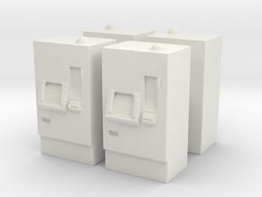 ATM Machine (x4) 1/87 in White Natural Versatile Plastic