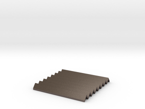 Large Concertina Heatproof Mat in Polished Bronzed Silver Steel