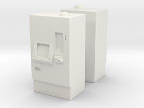 ATM Machine (x2) 1/72 in White Natural Versatile Plastic