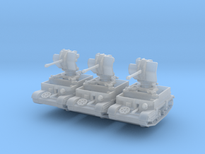 Universal Carrier Flak 38 (x3) 1/220 in Smooth Fine Detail Plastic