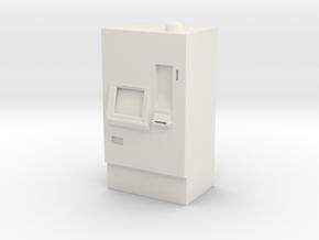 ATM Machine 1/43 in White Natural Versatile Plastic