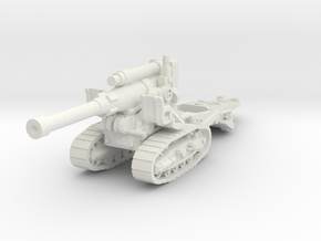 B-4 howitzer 1/64 in White Natural Versatile Plastic