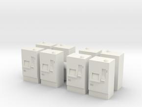ATM Machine (x8) 1/144 in White Natural Versatile Plastic