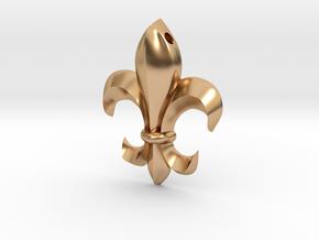 Fleur-de-lis pendant in Polished Bronze