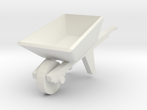 Wheelbarrow 1/48 in White Natural Versatile Plastic