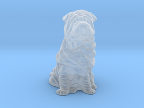 HO Scale Shar Pei in Smooth Fine Detail Plastic