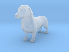 O Scale Dachshund in Smooth Fine Detail Plastic