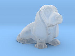 S Scale Basset Hound in Smooth Fine Detail Plastic