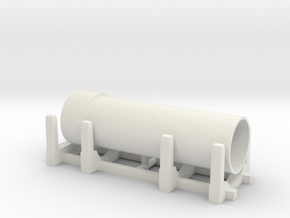 Pipe Transport 1/48 in White Natural Versatile Plastic