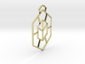 Square illusion in 18k Gold Plated Brass