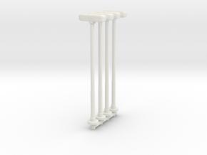 Double Street Lamp (x4) 1/87 in White Natural Versatile Plastic