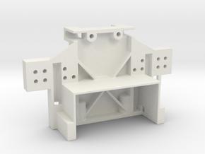 Team Losi Rear Bulkhead JRX2, JRXT, LXT, JRX Pro,  in White Natural Versatile Plastic