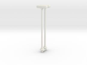 Double Street Lamp (x2) 1/76 in White Natural Versatile Plastic