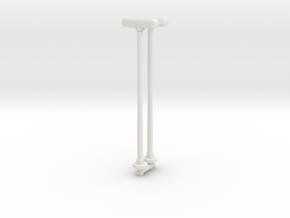 Double Street Lamp (x2) 1/72 in White Natural Versatile Plastic