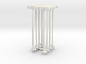 Double Street Lamp (x8) 1/160 in White Natural Versatile Plastic