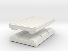 Wooden Pier Deck (x2) 1/87 in White Natural Versatile Plastic