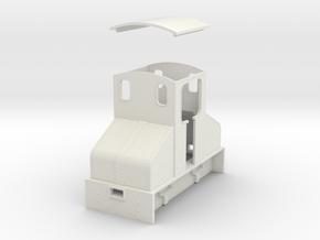 O9 Steeplecab loco  in White Natural Versatile Plastic