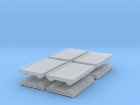 Wooden Pier Deck (x8) 1/285 in Smooth Fine Detail Plastic