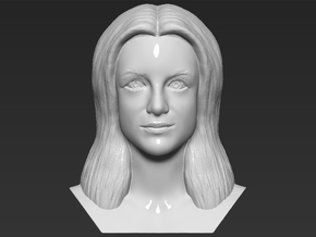 Britney Spears bust in White Natural Versatile Plastic