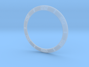 Thunderbird watch bezel insert - fine detail plast in Smooth Fine Detail Plastic