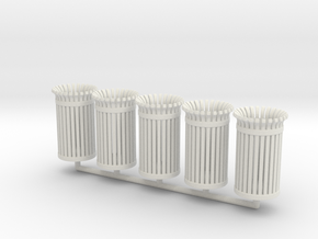 TrashBin 05. 1:48 Scale (O) in White Natural Versatile Plastic