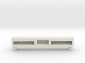 Modern Miniature 1:24 Sideboard in White Natural Versatile Plastic: 1:24