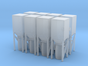 Dust Collector Bin (x8) 1/200 in Smooth Fine Detail Plastic