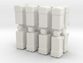 Waste Container Bin (x16) 1/87 in White Natural Versatile Plastic