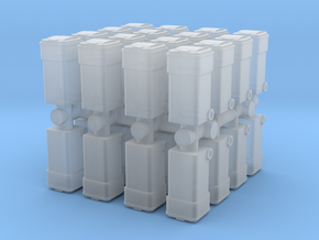 Waste Container Bin (x32) 1/160 in Smooth Fine Detail Plastic
