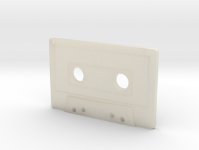 Cassette Keychain in White Acrylic