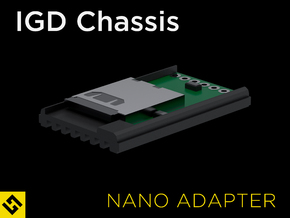 IGD Chassis - Nano Biscotte Adapter in Black Natural Versatile Plastic