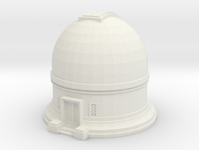 Observatory 1/100 in White Natural Versatile Plastic