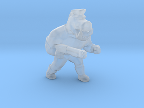 Pigcop Classic miniature for games rpg scifi DnD in Smooth Fine Detail Plastic