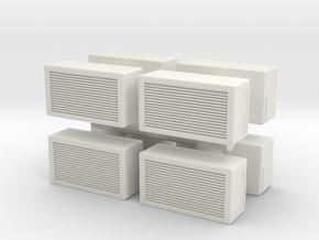 Window AC Unit (x8) 1/72 in White Natural Versatile Plastic