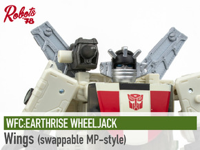 [MP-Style] ER Wheeljack Wings in White Natural Versatile Plastic