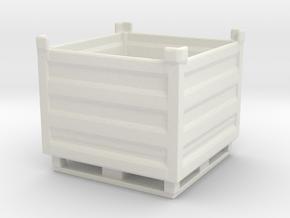 Palletbox Container 1/56 in White Natural Versatile Plastic