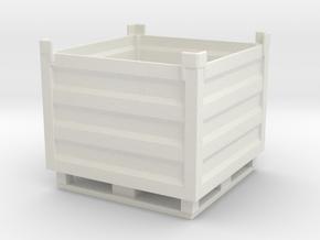 Palletbox Container 1/35 in White Natural Versatile Plastic
