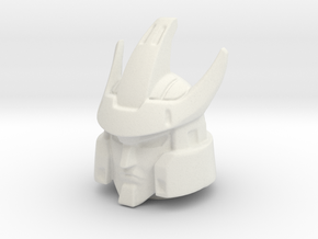 Combiner Wars Galvatron head 18 mm Pin 4mm hole in White Natural Versatile Plastic