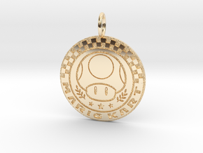 Mario Kart 1up Pendant in 14K Yellow Gold: Small
