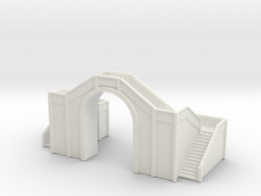 Railway Foot Bridge 1/350 in White Natural Versatile Plastic