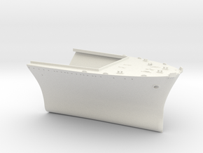 1/350 USS Wasp (Sept. 1942) Bow in White Natural Versatile Plastic