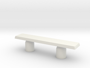 Modern Miniature 1:48 Sidetable in White Natural Versatile Plastic: 1:48 - O