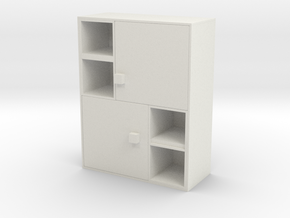Modern Miniature 1:48 Sideboard in White Natural Versatile Plastic: 1:48 - O