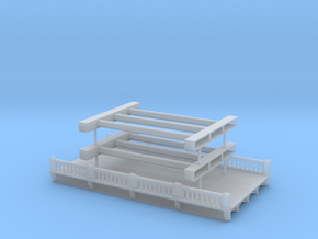 Highway Overpass 1 Z scale in Smooth Fine Detail Plastic