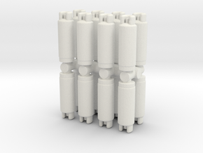 Gas Cylinder Tank (x16) 1/120 in White Natural Versatile Plastic
