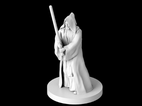 "(IA) Obi Wan ""Old Ben"" Kenobi in Smooth Fine Detail Plastic"