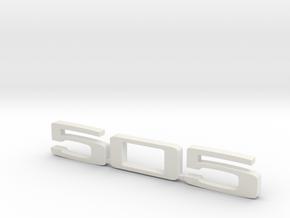 keychain peugeot 505 in White Natural Versatile Plastic