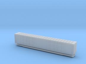 Z scale 86 foot 8 door boxcar in Smoothest Fine Detail Plastic