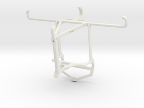 Controller mount for PS4 & Samsung Galaxy Xcover P in White Natural Versatile Plastic