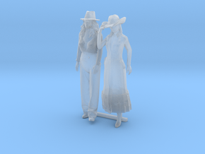 O Scale Cowgirls in Smooth Fine Detail Plastic